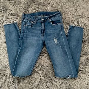H&M &Denim Skinny Distressed Jeans